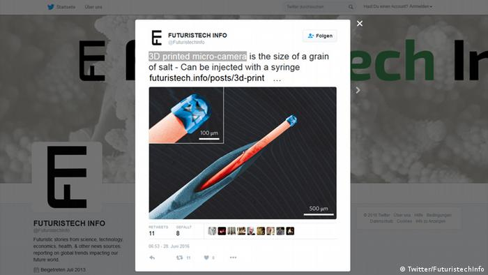Screenshot Twitter FuturistechInfo