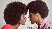 Afro-Amerikanisches Paar in den 70ern