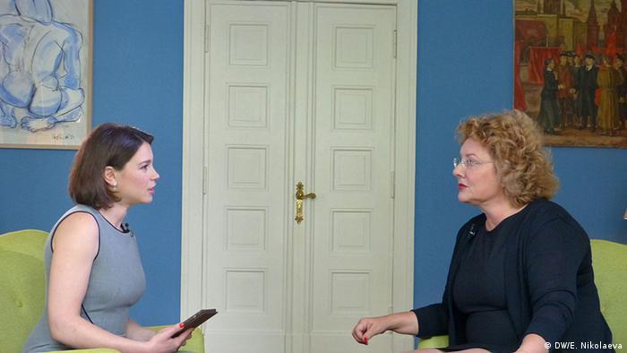 Жанна Немцова и Регина фон Флемминг