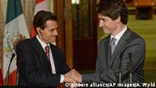 Kanada Justin Trudeau und Enrique Pena Nieto