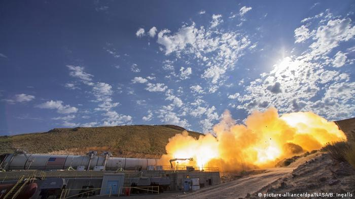 USA Test NASA Raketensystem QM-2 in Utah