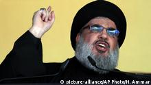 Libanon Beirut Sheik Hassan Nasrallah (picture-alliance/AP Photo/H. Ammar)