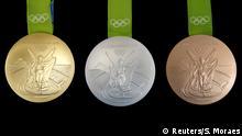 Brasilien Olympische Spiele 2016 - Medaillen Produktion in Rio de Janeiro