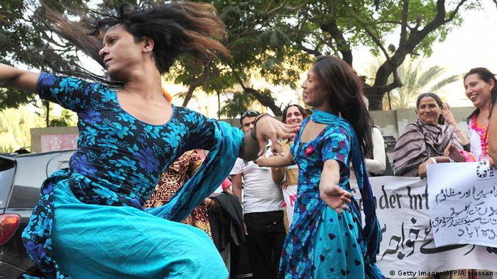 Pakistan Hijra Transsexuelle Demo in Karachi (Getty Images/AFP/A. Hassan)