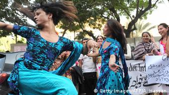 Pakistan Hijra Transsexuelle Demo in Karachi