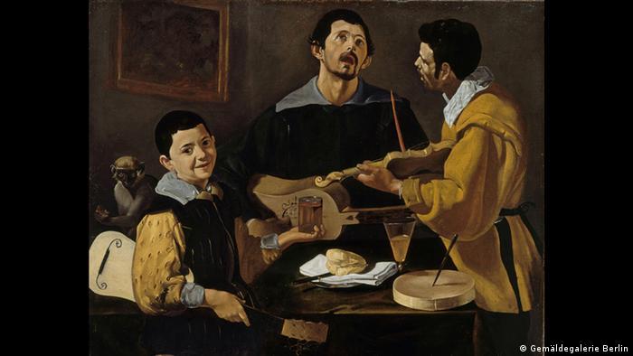 Painting of Velazquez' 'Three Musicians', Copyright: Gemäldegalerie Berlin