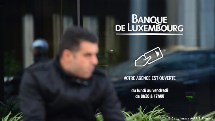 Luxemburg Luxleaks Prozess Symbolbild Banque de Luxembourg (Getty Images/AFP/E. Dunand)