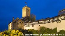 Wartburg Castle watches quietly over the town of Eisenach in Thuringia