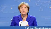 Angela Merkel bei der Abschluss-Pressekonferenz beim EU-Gipfel in Brüssel
