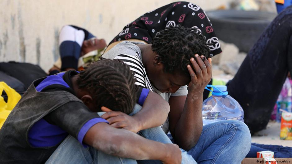Libyan trafficking camps are hell for refugees, diplomats say