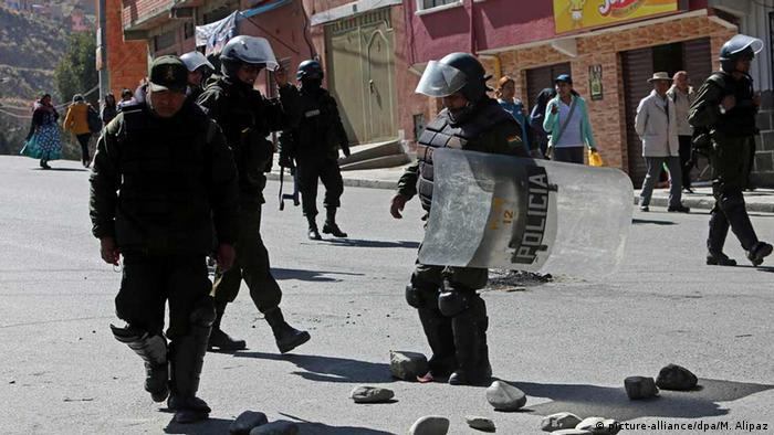 Bolivien Streik in Bolivien gegen der Entlassungen im staatlichen Textilunternehmen
