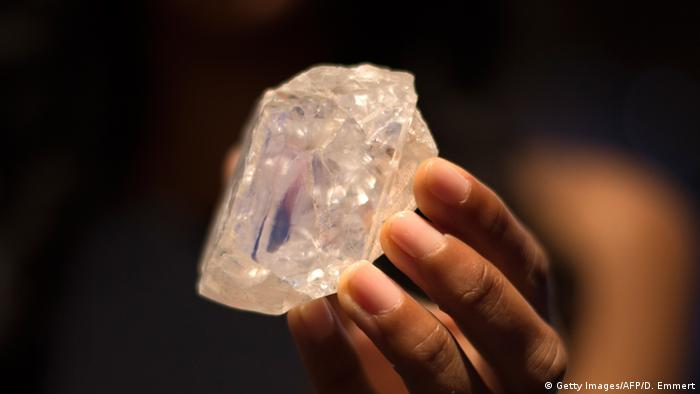 A 1,109 carat diamond uncovered in Botswana