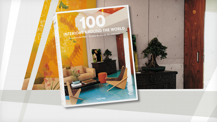 Book Cover book 100 Interiors Around the World