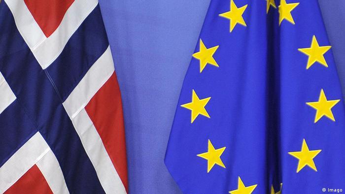 Brüssel Flaggen EU Norwegen (Imago)