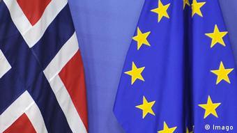 Флаги Норвегии и ЕС