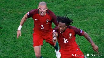 UEFA EURO 2016 Viertelfinale Polen vs Portugal / 1:1 Torjubel Portugal