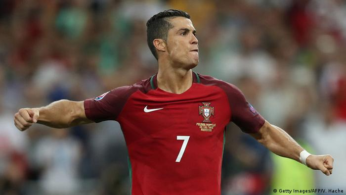 UEFA EURO 2016 Viertelfinale Polen vs Portugal Ronaldo Jubel (Getty Images/AFP/V. Hache)