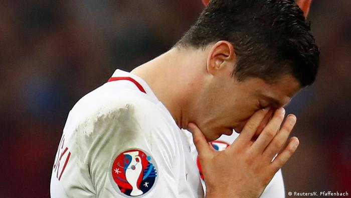 UEFA EURO 2016 Viertelfinale Polen vs Portugal Portugal gewinnt Robert Lewandowski