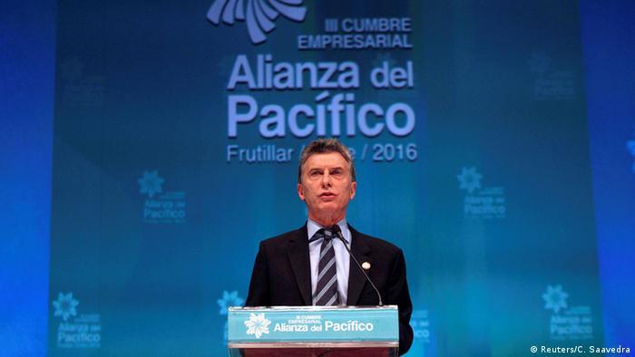 Chile Pazifik-Allianz Alianza del Pacífico 2016 Mauricio Macri