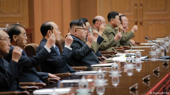 Nordkorea Vollversammlung mit Kim Jong Un