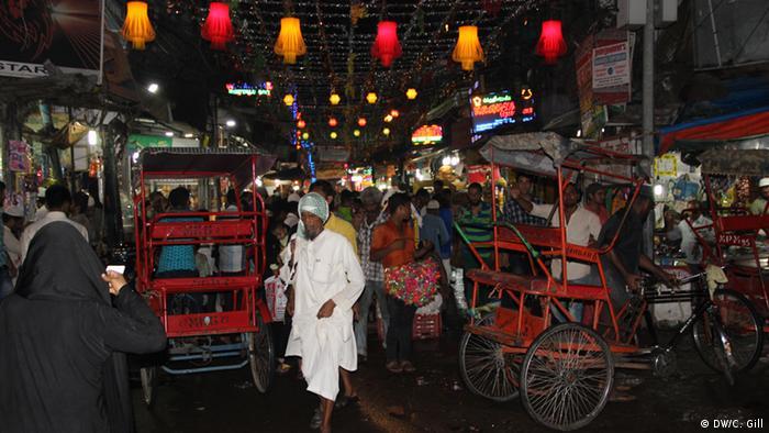 Indien Ramadan-Feier in Alt Delhi Shoppingmeile