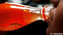 close up; illustration; woman; mouth; blurred; drinking; soda; orange; thirsty; thirst; soft drinks; soft drink; bottles; bottle; women; soda