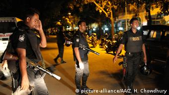 Security forces in Dhaka during the seige