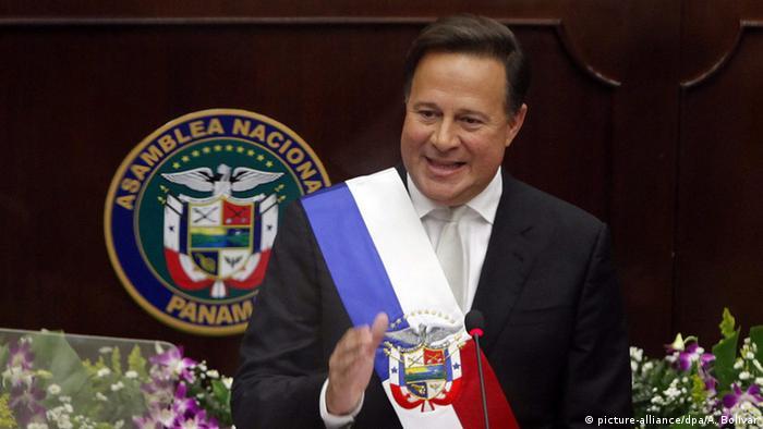 Panama Präsident Juan Carlos Varela Rede 01.07.2016 (picture-alliance/dpa/A. Bolívar)