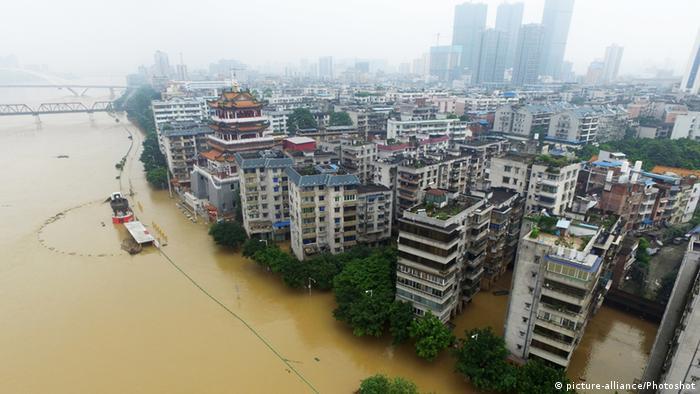 China Überschwemmung in Liuzhou