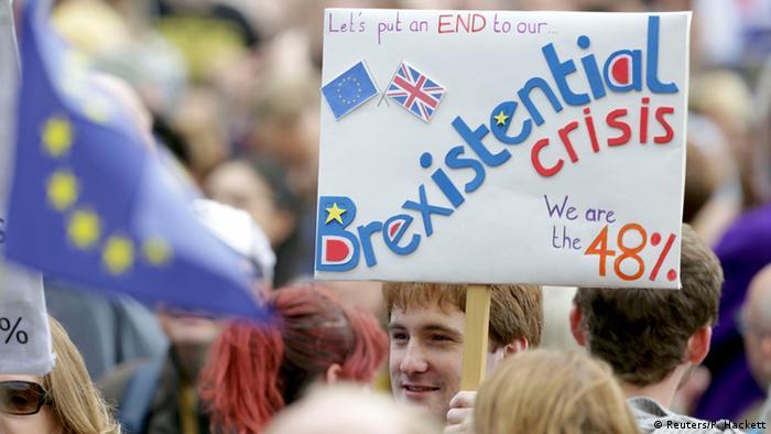 Großbritannien Proteste gegen Brexit in London (Reuters/P. Hackett)