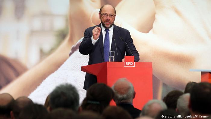 SPD-Regionalkonferenz Berlin Schulz (Foto: picture alliance/dpa/W. Krumm)