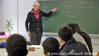 Deutsch lernen Unterricht Flüchtlinge