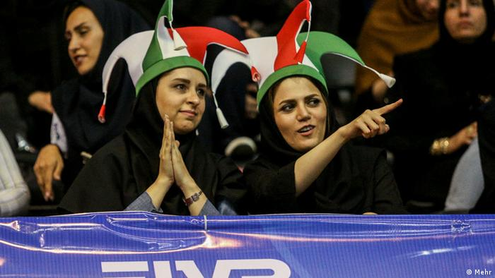 Iranian women allowed to watch Iran-Serbia volleyball match (Mehr)