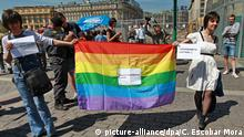 Moskau gay rights rally 2011