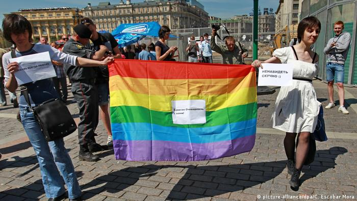 Moskau Gay Pride Parade 2011