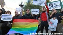 Moskau gay rights rally 2011