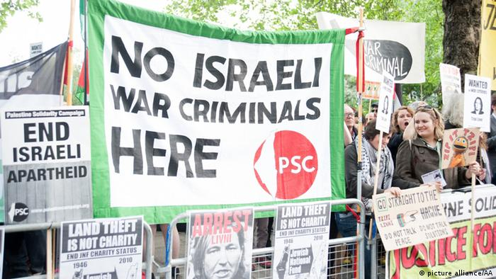 In 2014, demonstrators protested against Tzipi Livni's visit to London, calling for her to be prosecuted for war crimes