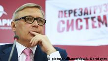 Russland Parteitag Parnas Parteivorsitzender Michail Michailowitsch Kassjanow