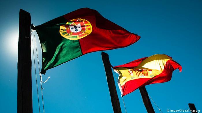 Флаги Португалии и Испании