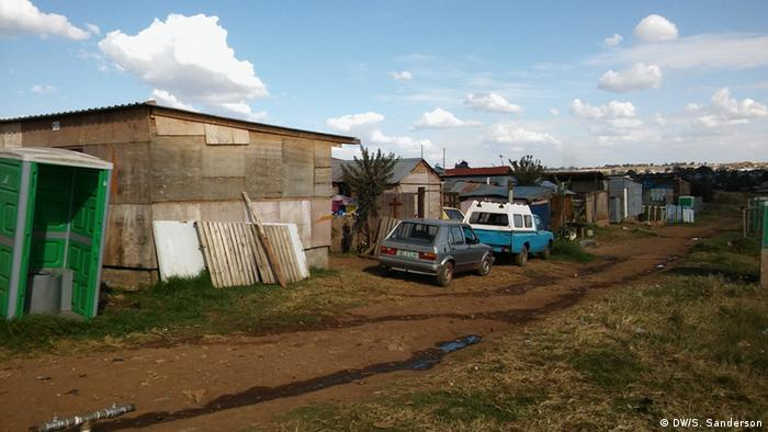 Shacks in Munsieville squatter camp