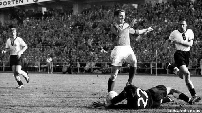Schweden Fußball WM 1958 Frankreich - Deutschland