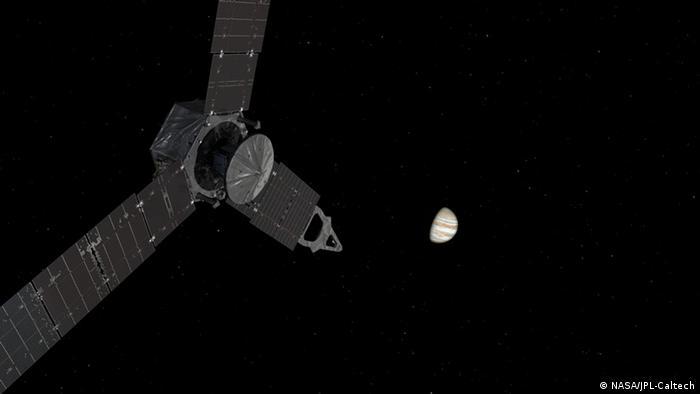NASA Juno Sonde am Jupiter Illustration