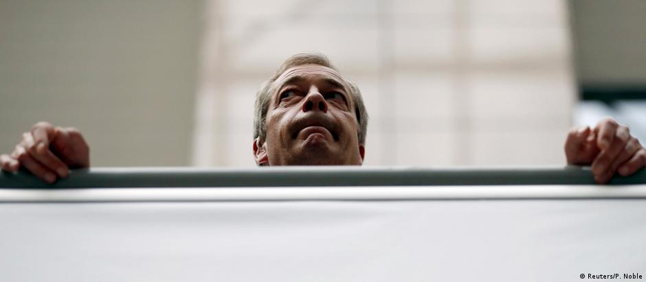 Nigel Farage foi uma das figuras políticas fundamentais para a vitória do Brexit