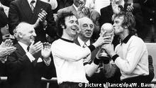 Welttag des Kusses Franz Beckenbauer und Sepp Maier