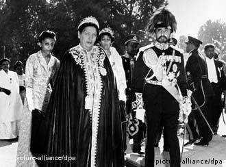 Selassié e a esposa se exilaram em Londres