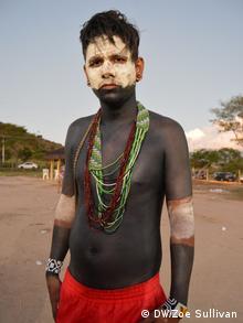 Geovany Krenak, chief or cacique of the Krenak tribe, in Regencia (Photo: Zoe Sullivan)