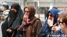 04.07.2016 ***** Women react at the site after a suicide car bomb attack at the shopping area of Karrada, a largely Shi'ite district, in Baghdad, Iraq July 4, 2016. Copyright: Reuters/A. Saad