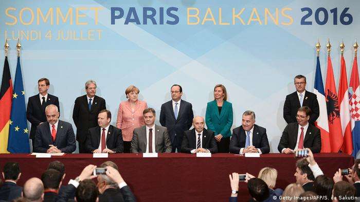 Frankreich Balkan-Gipfel in Paris (Getty Images/AFP/S. de Sakutin)