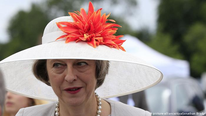 Theresa May during day three of the 2016 Henley Royal Regatta. Copyright: picture-alliance/dpa/Jonathan Brady