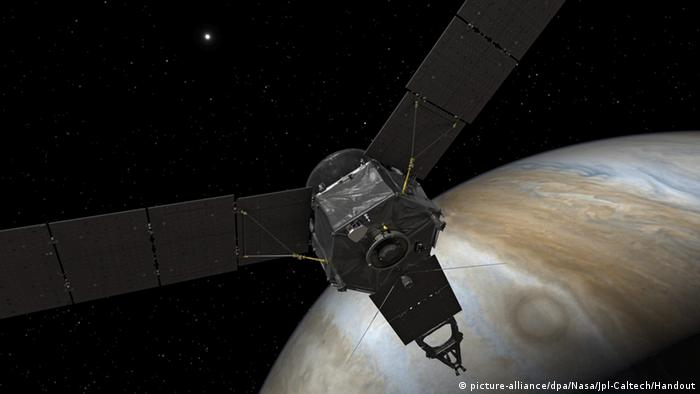 NASA Juno Sonde am Jupiter Illustration